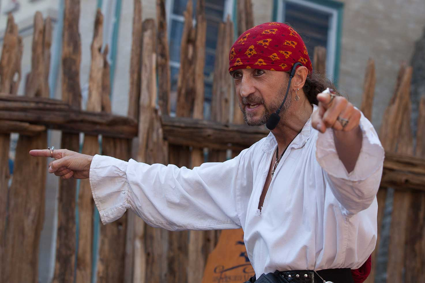 Pirate Capitaine Loran en spectacle